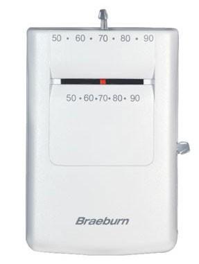 Braeburn 505 Heat Only Thermostat 24v